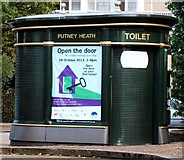 TQ2374 : The Public Toilet at Putney Heath Bus Terminus by tristan forward