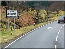NN5528 : Police Unmarked Motorcycles Operate On The A85 by David Dixon