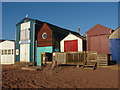 SX9372 : Beach huts, Teignmouth by Alan Hunt