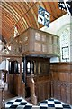 SP6604 : The Norris pew and musicians' gallery by Steve Daniels