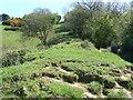 ST5493 : Offa's Dyke earthworks at Sedbury Cliffs by John Winder