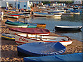 SX9372 : Boats on the beach by Alan Hunt