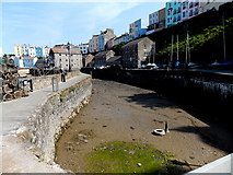 SN1300 : Dry dock at low tide, Tenby Harbour by Jaggery