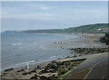 NZ8612 : Beach, Sandsend Bridge by JThomas