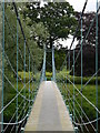 NY3971 : Netherby Footbridge by James T M Towill