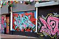 J3374 : Graffiti, Lower Garfield Street, Belfast - June 2014(2) by Albert Bridge