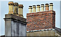 J3372 : Chimneys and chimney pots, University Road, Belfast (June 2014) by Albert Bridge