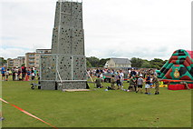 NS3321 : Climbing Wall at Low Green, Ayr by Billy McCrorie