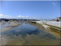 SH9980 : Foryd harbour from Pont y Ddraig by Richard Hoare