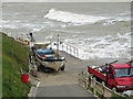 TG2441 : Slipway at high tide by Pauline E