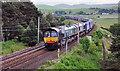 NS9321 : Freight Train near Crawford by Stuart Wilding