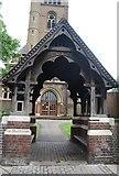 TQ1779 : Lych gate, Church of St Mary by N Chadwick
