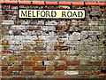 TL8146 : Melford Road sign by Adrian Cable