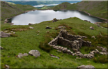 SD2799 : Ruin above Levers Water by Tom Richardson