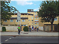 TQ3476 : Flats and houses in cream brick, Peckham Hill Street by Robin Stott