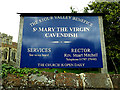 TL8046 : St. Mary the Virgin Church sign by Adrian Cable