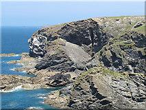 SW8471 : Rocks at High Cove by David Hawgood