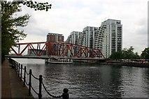 SJ8097 : Detroit Bridge across Dock 9, Salford Quays by Graham Hogg