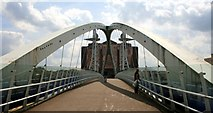 SJ8097 : Millennium Bridge, Salford Quays by Graham Hogg