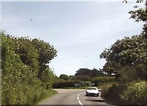 SW6923 : Approaching junction near Burncoose by John Firth