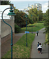 TQ3377 : Surrey Canal Path, east end of Burgess Park, seen from Hill Street Bridge by Robin Stott