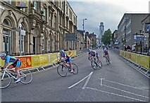 SE3406 : Town centre bike racing comes back to Barnsley by Steve  Fareham