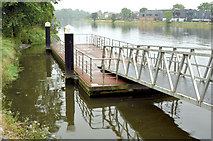 J3473 : Pontoon, River Lagan, Belfast (June 2014) by Albert Bridge
