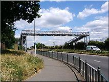 TQ1372 : Bailey Bridge footbridge on A316 Whitton, Twickenham by pablo haworth