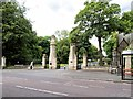 NZ3469 : Preston Cemetery Gates, Walton Road by David Dixon