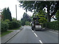 SJ7770 : Steam roller on Main Road, Goostrey by Colin Pyle