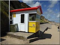 TG2142 : Lifeguard station Cromer beach by ruth e