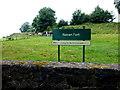 H8444 : Navan Fort sign by Kenneth  Allen