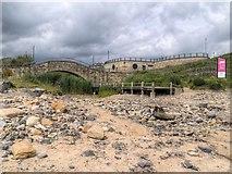 NZ3573 : Whitley Sands, Bridge over Briardene Burn by David Dixon