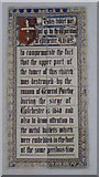 TL9925 : St. Martin's Church, West Stockwell Street, CO1 - plaque in the north aisle by Mike Quinn
