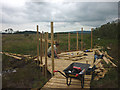 SD4582 : Building a viewing platform, Foulshaw Moss by Karl and Ali