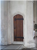TL9925 : St. Martin's Church, West Stockwell Street, CO1 - door to rood-loft straircase by Mike Quinn