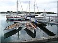 NR3645 : Pontoons at Port Ellen by Gordon Brown