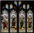 TQ8209 : Stained glass window, St Clements' church, Hastings by Julian P Guffogg
