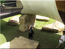 TQ2679 : Rocks supporting Serpentine Gallery Pavilion 2014 by David Hawgood