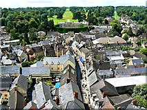 SP0202 : West from St John's Church tower roof, Cirencester (1) by Brian Robert Marshall