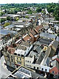 SP0202 : South-west from St John's Church tower roof, Cirencester (2) by Brian Robert Marshall