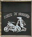 "SJ9495 : New artwork at the Bike ""n"" Hound by Gerald England"
