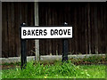 SU3816 : Bakers Drove sign by Adrian Cable