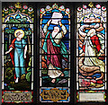 TG4704 : St Peter & St Paul, Burgh Castle - Stained glass window by John Salmon