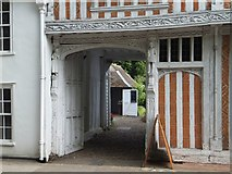 TL8422 : Entrance passageway to Paycokes House, Coggeshall by David Smith