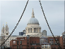 TQ3180 : View of St Paul's Cathedral from the underside of the South Bank by Robert Lamb
