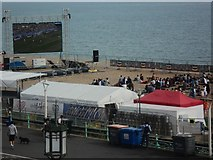 TQ3103 : World Cup Comes To Brighton Beach by Ed of the South