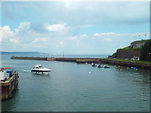 SY6878 : Weymouth harbour entrance by Malc McDonald