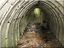 TM4077 : Air raid shelter on Site 10 - interior view by Evelyn Simak