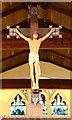 TQ7594 : St Mary, Runwell - Rood by John Salmon